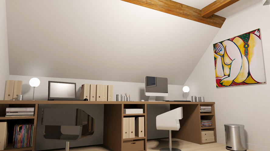 Dk3d espace 3d agencement bureau architecture int rieure for Agencement bureau design